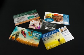 Design portfolio including brochures and signs