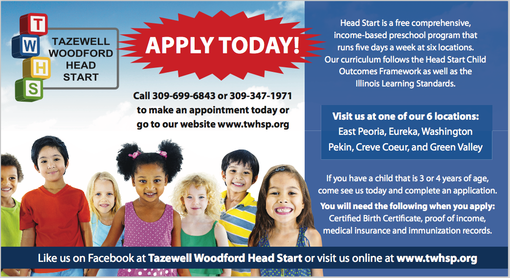 Tazewell Woodford Head Start Print Postcard Project