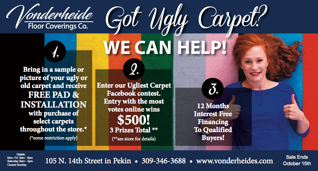Vonderheide's Got Ugly Carpet Postcard - Pekin IL Print Project